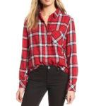 red-plaid-flannel-shirt