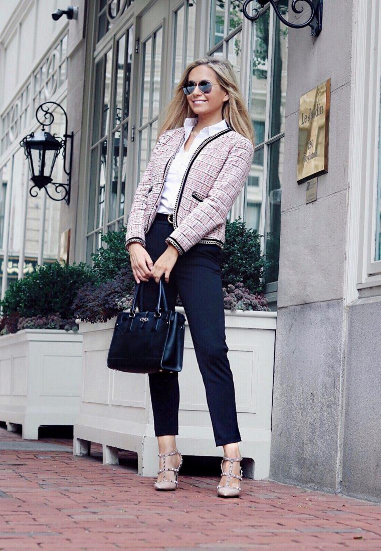 Stylish Tweed Jacket For Fall