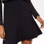 loft-black-flounce-skirt