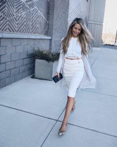 Reiss-cream-pencil-skirt