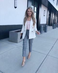 cream-blazer-and-plaid-pants