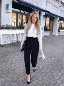 duster-cardigan-and-paperbag-pants