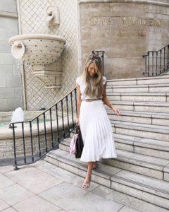 reiss-white-pleated-skirt
