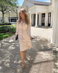 reiss-pink-satin-dress