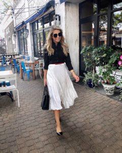 Reiss-white-pleated-midi-skirt