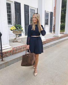 reiss-navy-blue-dress