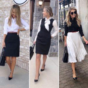 black-and-white-work-wear