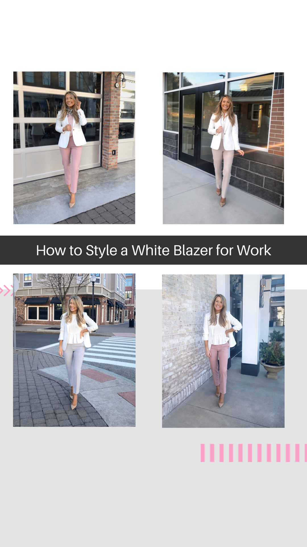 How to Style a White Blazer for Work