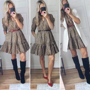 jcrew leopard dress outfit
