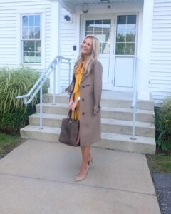 express plaid trench