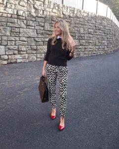 jcrew leopard pants
