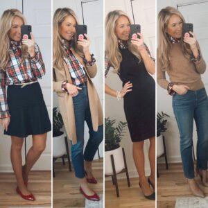 how to style tartan shirt