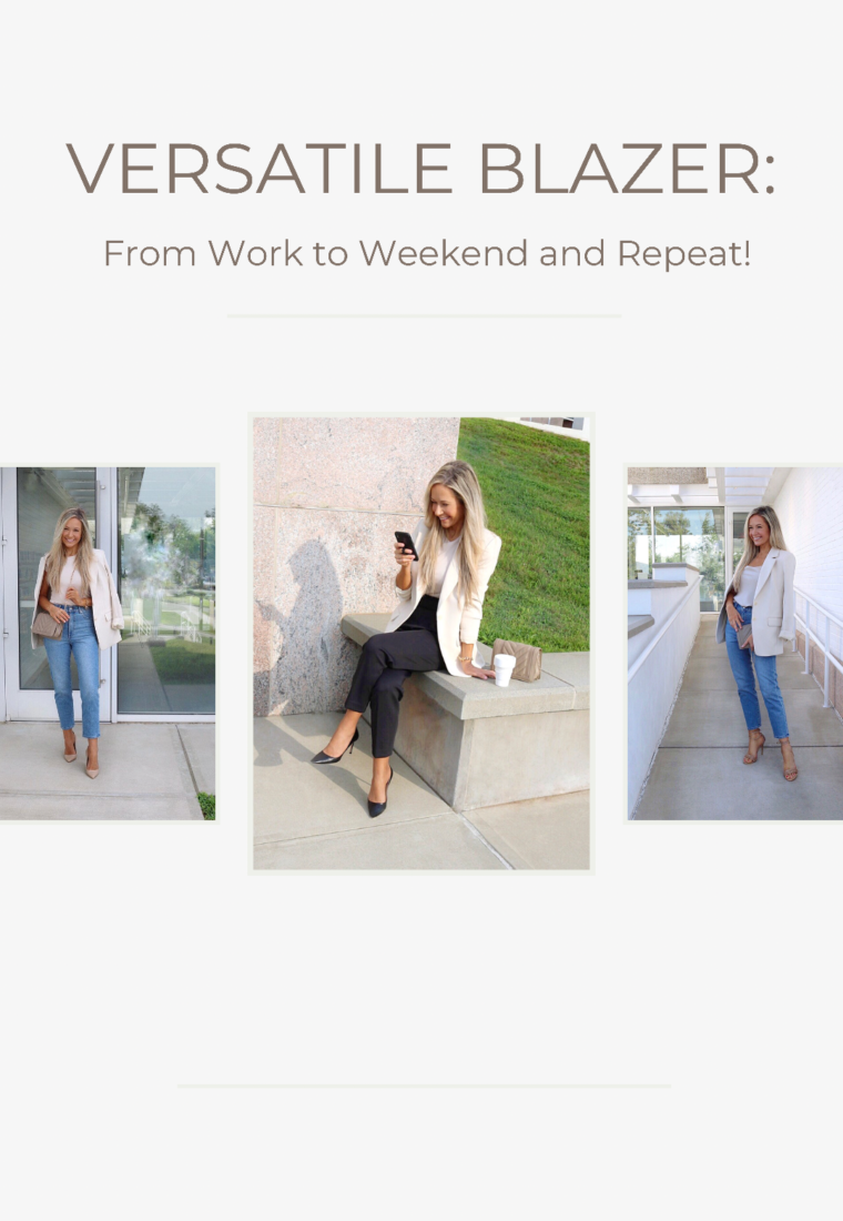 Versatile Blazer: From Work to Weekend and Repeat!